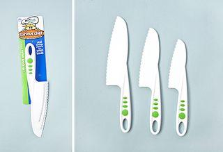 Plastic Cooking Knife Set for Kids - Set of 3
