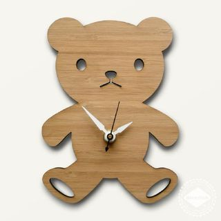 Modern baby clock - Bear from Decoylab