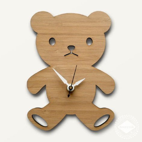 Modern baby clock - Bear from Decoylab