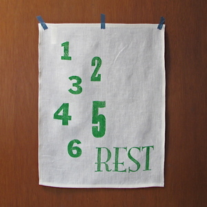Image of Linen Tea Towel - Rest