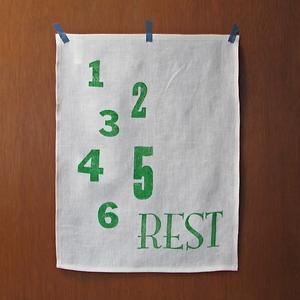 Image of Linen Tea Towel - Rest