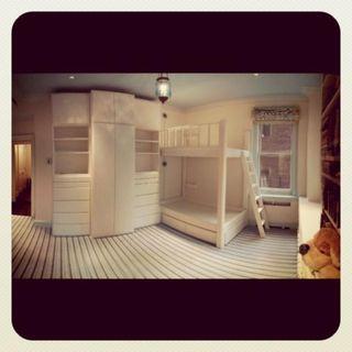 Wardrobe bunk bed system