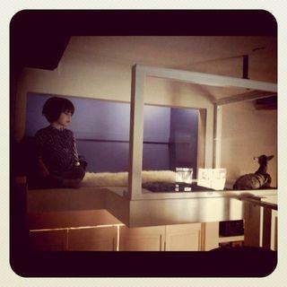 I designed a secret nook above the closet for Clara